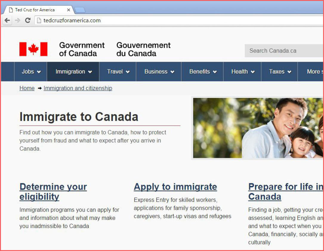 الرابط المباشر لـ موقع الهجرة الكندية