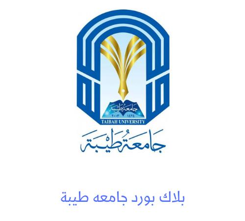 بلاك بورد جامعة طيبة رابط تسجيل الدخول بلاك بورد طيبة